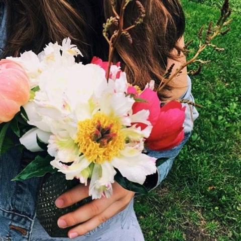 peonies, vase, bouquet, flowers