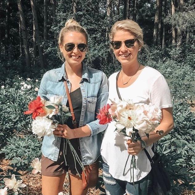 friends, sisters, gardening, flowers